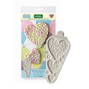 C&D - Button Hearts Creative Cake System Silicone Mold pack shot