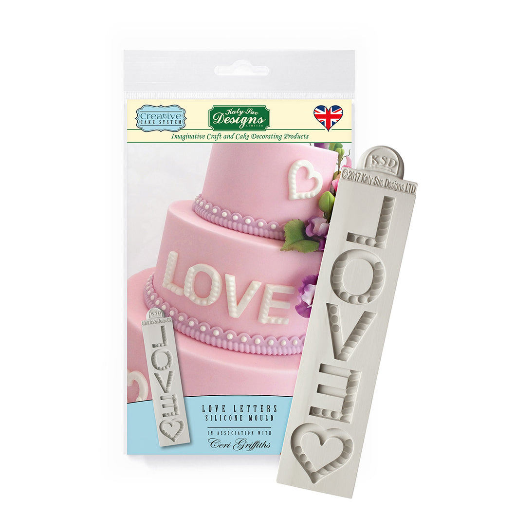 C&D - LOVE Letters Creative Cake System Silicone Mold