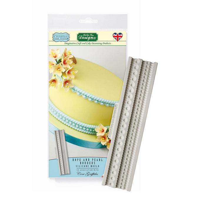 C&D - Rope and Pearl Borders Creative Cake System Silicone Mold