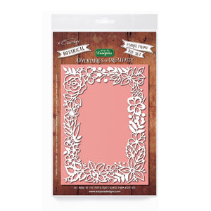 Adventures in Creativity  - Botanical Floral Frame Die Set
