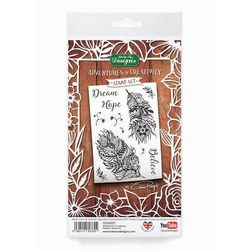 Adventures in Creativity - Feathers Stamp Set