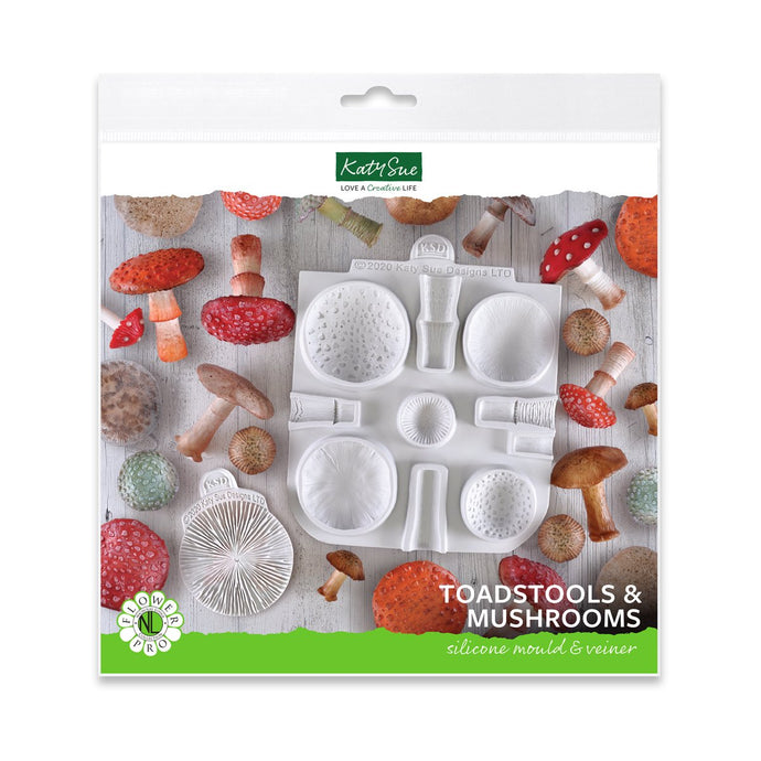 C&D - Flower Pro Toadstools and Mushrooms Silicone Mold
