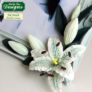 C - Craft Idea using the Flower Pro Lily Mold and Veiner