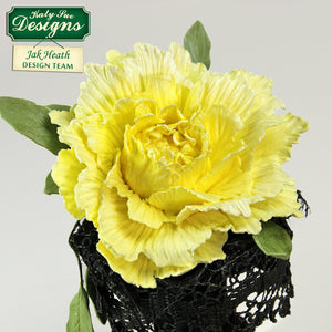 C - Craft Idea using the Flower Pro Peony Leaves Mold