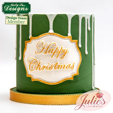 CD - Happy Christmas Large Plaque Mold