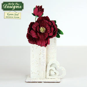 C - Craft Idea using the Peony / Tulip Mold and Veiner