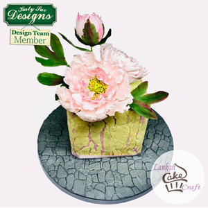 C - Cake Idea using the Peony / Tulip Mold and Veiner