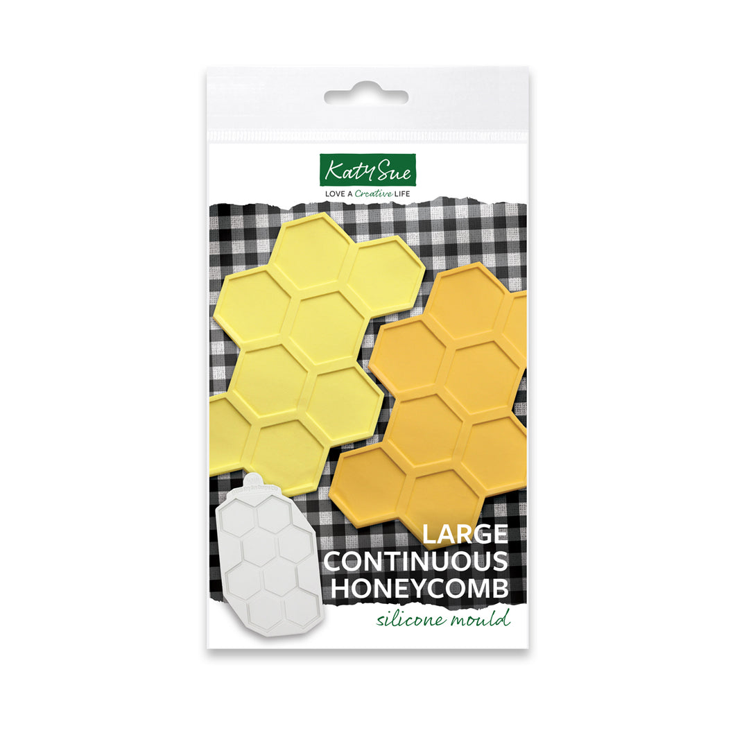 Large Continuous Honeycomb Silicone Mold Design Mat for Cake Decorating and Craft