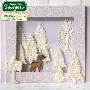 C - An idea using our Fir Trees Silhouettes Silicone Mold