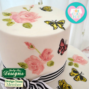 C&D - Cake Idea using Roses Silicone Embosser