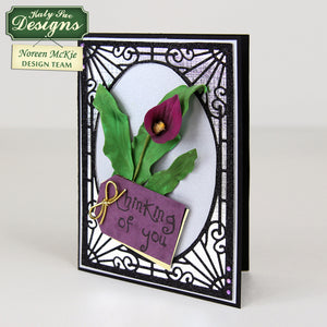 C - Craft Idea using the Calla Lily & Tulip Leaf Vein & Texture Set