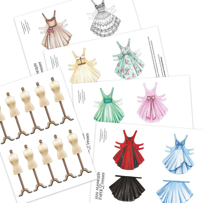 C&C - An idea using the Printable Mannequin and Paper Dresses Download