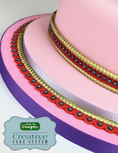 Rope and Pearl Borders Silicone Mould - Katy Sue Designs US
