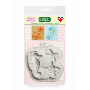C&D - Starfish and Seahorse Sugar Buttons Mold