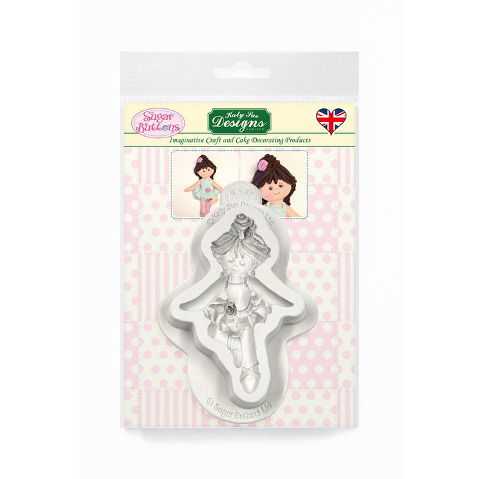 C&D - Ballerina Sugar Buttons Silicone Mold pack shot