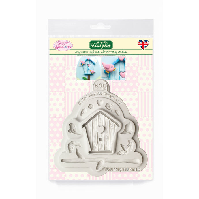 C&D - Birdhouse Sugar Buttons Silicone Mold pack shot