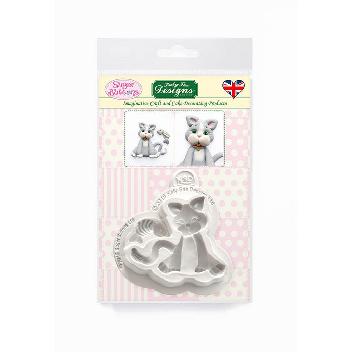 C&D - Cat Sugar Buttons Silicone Mold pack shot