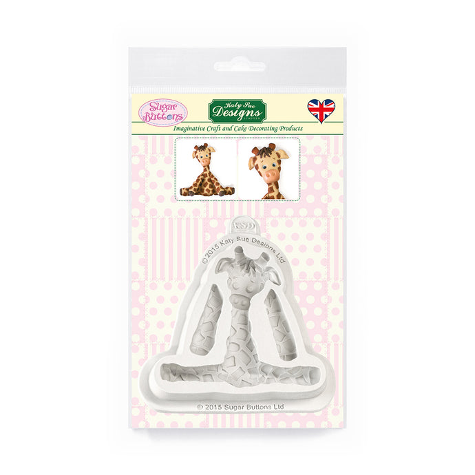 C&D - Giraffe Sugar Buttons Silicone Mold pack shot