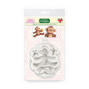 C&D - Monkey Sugar Buttons Silicone Mold pack shot