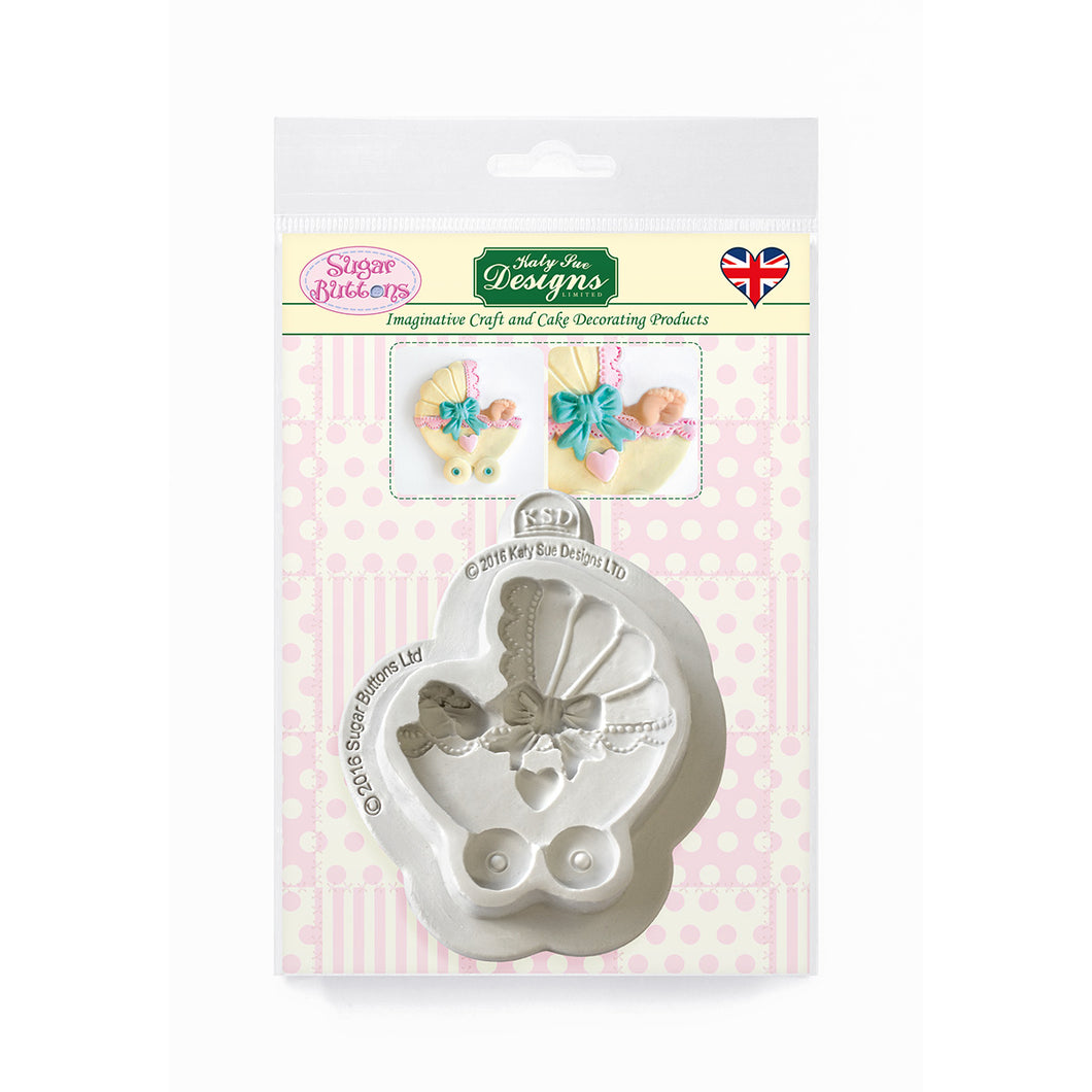 C&D - Pram Sugar Buttons Silicone Mold pack shot