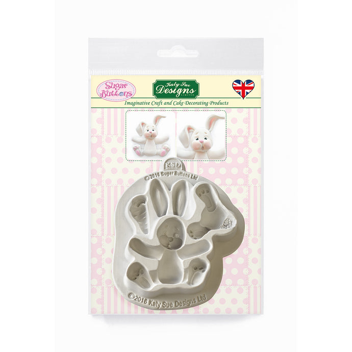 C&D - Rabbit Sugar Buttons Silicone Mold pack shot