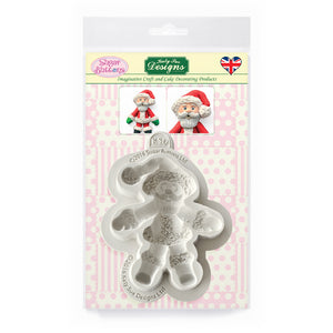 C&D - Father Christmas Sugar Buttons Silicone Mold pack shot