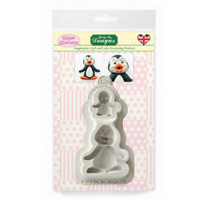 C&D - Penguins Sugar Buttons Silicone Molds pack shot