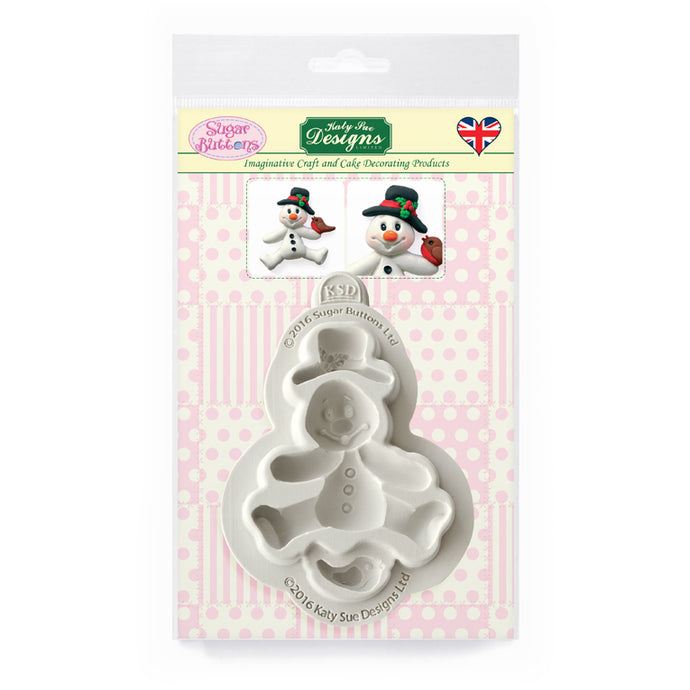 C&D - Snowman Sugar Buttons Silicone Mold pack shot