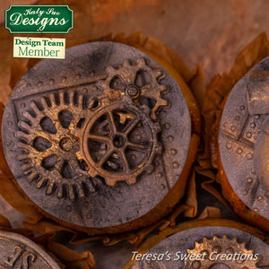CD - Distressed Cogs Silicone Mold