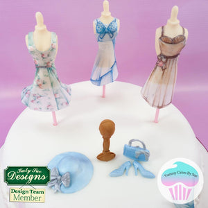 CD - An idea using the Printable Mannequin and Paper Dresses Download