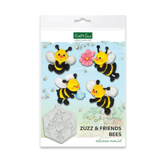 Zuzz and Friends Bees Silicone Mold for Cake Decorating and Craft
