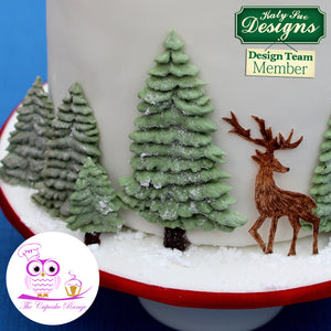 CD - An idea using our Fir Trees Silhouettes Silicone Mold