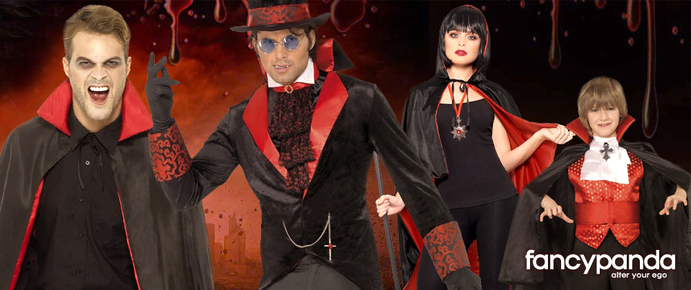 Vampire devil dracula fancy dress costume