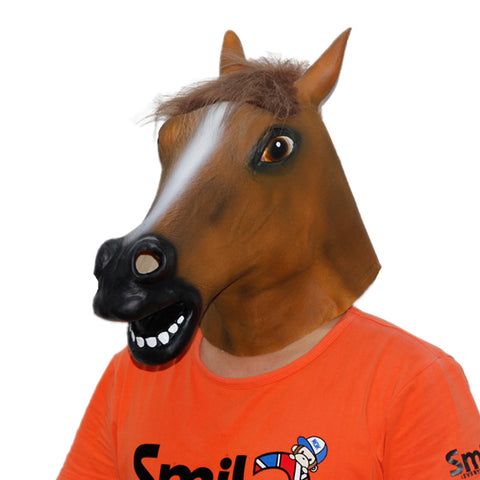 Stallion Horses Head Full Face Latex Mask