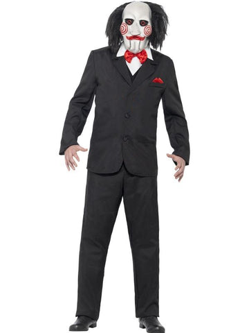 Men's Saw Jigsaw Fancy Dress Costume Black