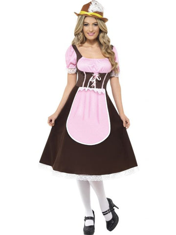 Women's Tavern Girl Fancy Dress Costume Brown