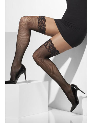 Women's Fishnet Hold-Ups Black