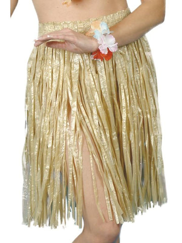 Adult Unisex Hawaiian Hula Skirt Yellow