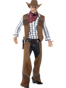 Men's Fringe Cowboy Fancy Dress Costume
