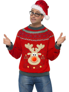 Men's Christmas Jumper Red