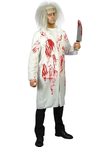 Men's Doctor's Coat with Blood White