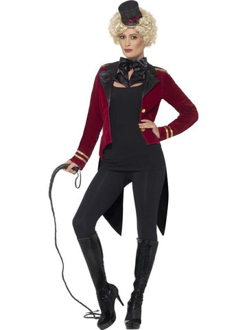 Women's Ringmaster Fancy Dress Costume Red