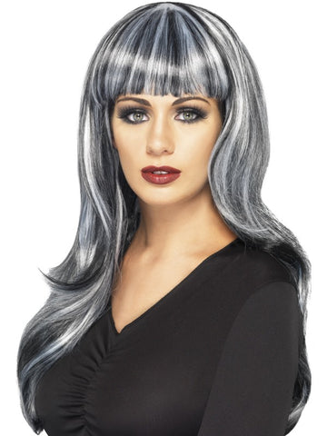 Women's Sinister Siren Wig Black, Green