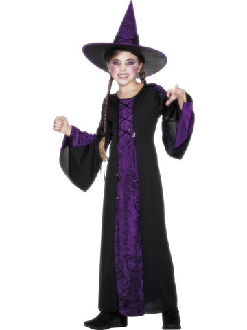 Girl's Bewitched Fancy Dress Costume Purple