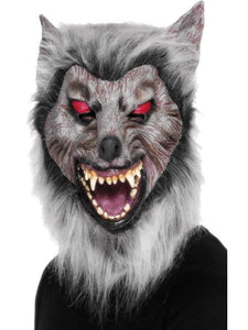 Adult Unisex Prowler Wolf Mask Grey
