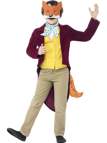 Boy's Roald Dahl Fantastic Mr Fox Fancy Dress Costume Burgundy