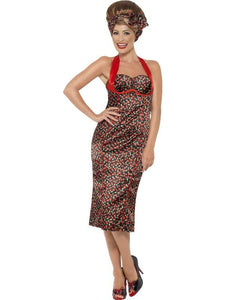 Rockabilly Costume, Cherry Print