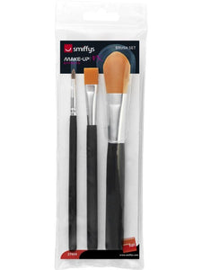 Cosmetic Brush Set, Pack of 3