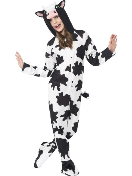 Child Unisex Cow Fancy Dress Costume Blk&wte