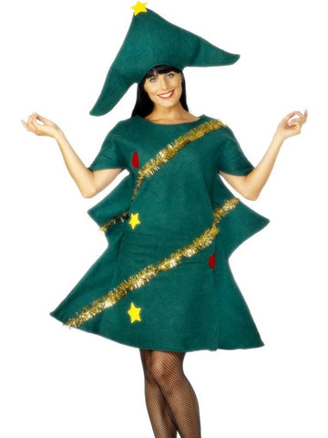 Women's Christmas Tree Fancy Dress Costume
